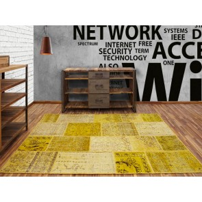 Alfombra Patchwork 10RE Giallo de Parentesi Quadra - Tendenza Store