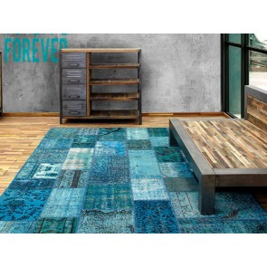 Alfombra Patchwork 14RE Turchese de Parentesi Quadra en Tendenza Store