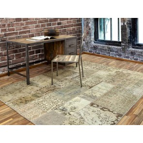 Alfombra Patchwork 2RE Beige de Parentesi Quadra en Tendenza Store
