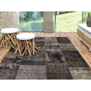 Alfombra Patchwork 5RE Marrone de Parentesi Quadra - Tendenza Store