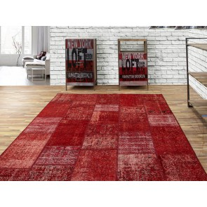 Alfombra Patchwork 6RE Rosso de Parentesi Quadra en Tendenza Store