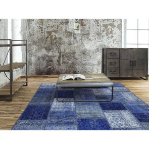 Alfombra Patchwork 7RE Blu de Parentesi Quadra en Tendenza Store