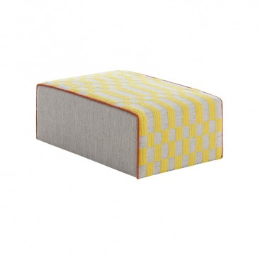 Puff Big Pouf Bandas B Yellow de Gan-Rugs en Tendenza Store
