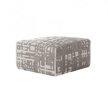 Puf Square Abstract Plata de Gan-Rugs en Tendenza Store