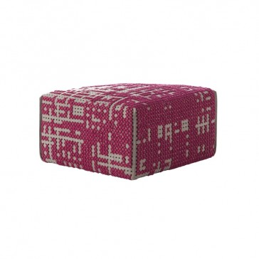 Puf Square Abstract Rosa de Gan-Rugs en Tendenza Store