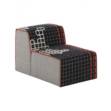 Puff Chair Bandas D Black de Gan-Rugs en Tendenza Store
