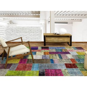 Alfombra Patchwork 17RE Multicolor de Parentesi Quadra en Tendenza Store