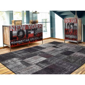 Alfombra Patchwork 3RE Nero de Parentesi Quadra en Tendenza Store