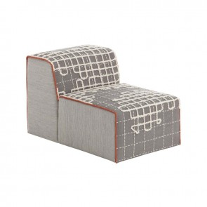 Puff Chair Bandas A Grey de Gan-Rugs en Tendenza Store