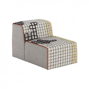 Puff Chair Bandas D White de Gan-Rugs en Tendenza Store