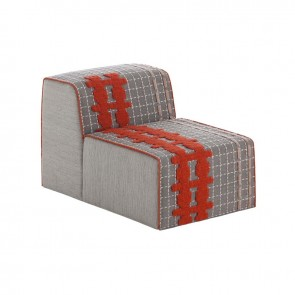 Puff Chair Bandas E Grey de Gan-Rugs en Tendenza Store