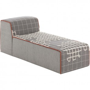 Puff Chaiselongue Bandas A Grey