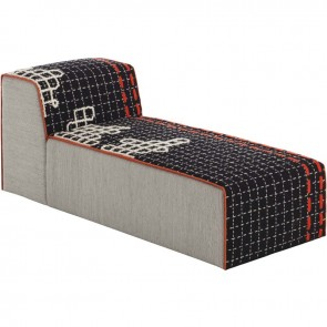 Puff Chaiselongue Bandas D Black de Gan-Rugs en Tendenza Store