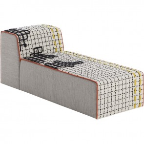 Puff Chaiselongue Bandas D White de Gan-Rugs en Tendenza Store