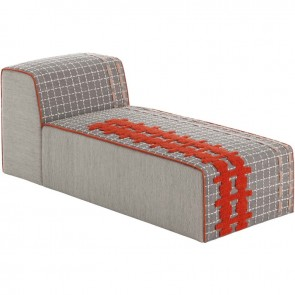 Puff Chaiselongue Bandas E Grey de Gan-Rugs en Tendenza Store