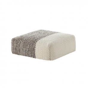 Puf Square Plait Crudo de Gan-Rugs en Tendenza Store