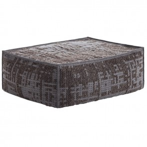 Puf Soft Abstract Charcoal de Gan-Rugs en Tendenza Store